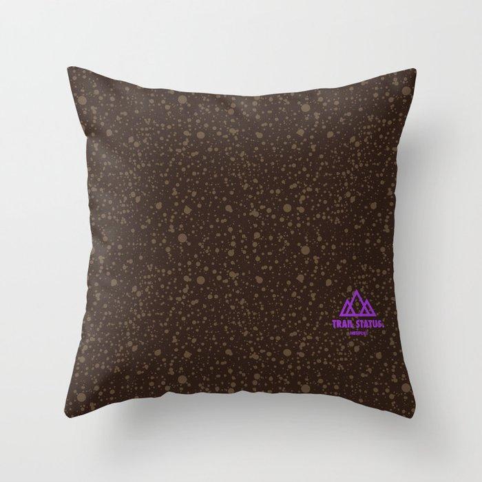 Trail Status / Brown Throw Pillow