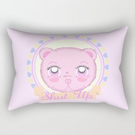 Cute Meanie teddy bear Rectangular Pillow