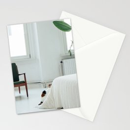 peeping cat; cat photography feline cute home scandinavian interior inspiration Stationery Cards