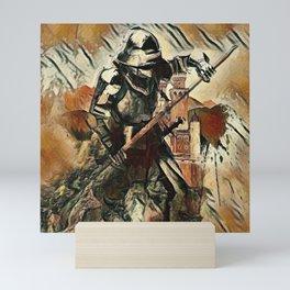Samurai Ninja Warrior in Armour Mini Art Print