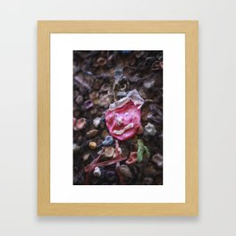 Mouth full of gum Bubblegum Alley Framed Art Print