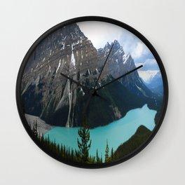 Peyto Lake Panorama Wall Clock
