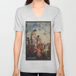 """Fairy Lights"" by Hilda Miller 1915 Unisex V-Neck"