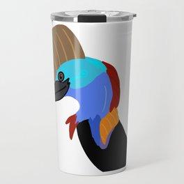 Southern Cassowary - Animated Travel Mug