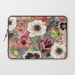 Boho Flowers Pattern Laptop Sleeve