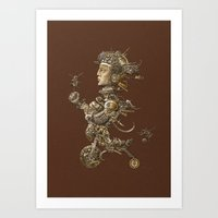 cycle Art Prints featuring CYCLE by AMULET