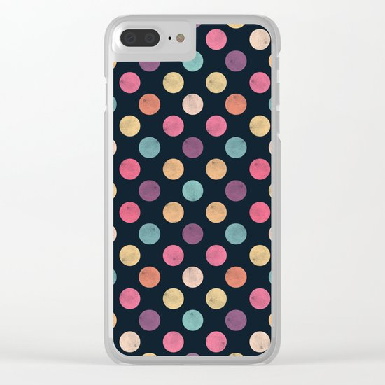 Watercolor Dots Pattern II Clear iPhone Case