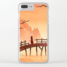 Samurai Scene, Bushido Ronin Clear iPhone Case