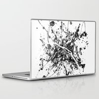 paris map Laptop & iPad Skins featuring Paris map by Nicksman