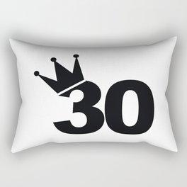 King 30th Birthday Rectangular Pillow