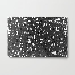 Black and white, day and night, dark and light, life contrasts, simple abstract texture design Metal Print