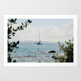 Virgin Gorda, BVI Sail Boat Art Print