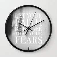 faith Wall Clocks featuring Faith by eARTh