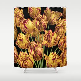 Royal Sovereign Tulips bouquet. Shower Curtain