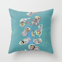 Space Animals Throw Pillow