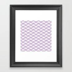 matsukata in african violet Framed Art Print