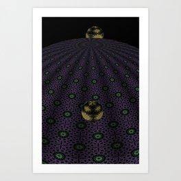 Unfitting Frame Orbitals 3 Art Print