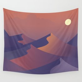 sunset dunes digital art Wall Tapestry