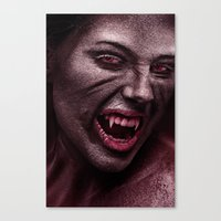 vampire Canvas Prints featuring vampire by Photoplace