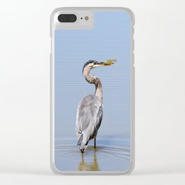 Great Blue Heron Fishing - I Clear iPhone Case