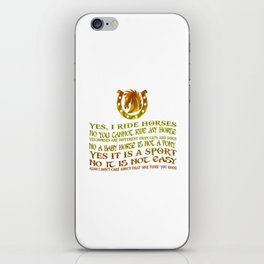 The Best Horse Ever! iPhone Skin