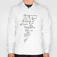 dumbledore Hoodies featuring Happiness - Dumbledore  by Hayley Lang