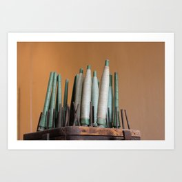 Vintage industrial threads Art Print