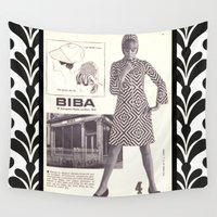 newspaper Wall Tapestries featuring 1970s Fashion - A Page from Biba Newspaper by London Days