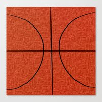 basketball Canvas Prints featuring Basketball by An Luong