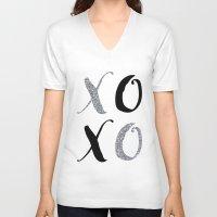 xoxo V-neck T-shirts featuring XOXO by Indulge My Heart