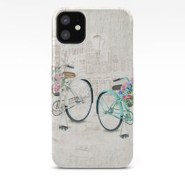 Vintage Bicycles With a City Background iPhone Case