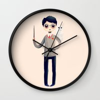 hedwig Wall Clocks featuring Little Harry by Nan Lawson