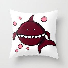 Red shark, Shark svg, Shark png, Shark vector, Shark black, Shark eps, Baby Shark, Shark bubble Throw Pillow