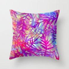 Electric Palms - Pink Throw Pillow