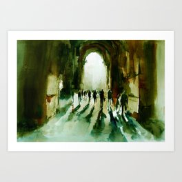 without an end or a beginning  Art Print