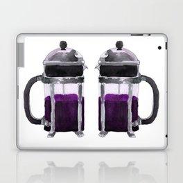 French Press - Purple Laptop & iPad Skin
