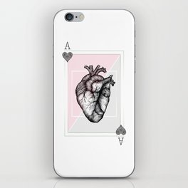 Ace of Hearts iPhone Skin