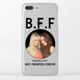 Best Frenemies Forever: Team Paris Hilton Clear iPhone Case