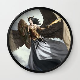 Angel of defence Wall Clock