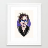 tim burton Framed Art Prints featuring TIM BURTON by ●•VINCE•●