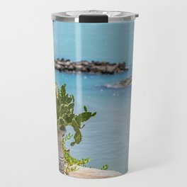 View of the sea at Vieste, Puglia, Italy Travel Mug