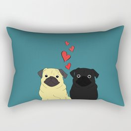 Pugs In Love Rectangular Pillow