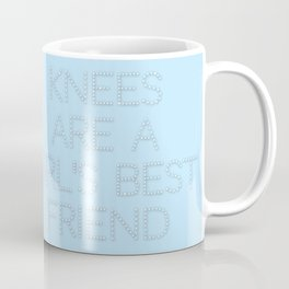 Knees are a girl's best friend - typography only Coffee Mug
