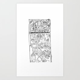 fridge clutter Art Print
