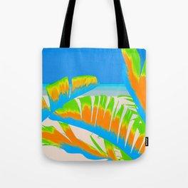 Tropical Colored Banana Leaves Design Tote Bag