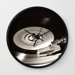Music From a Vintage 45 RPM Record Playing on a Turntable 5 Wall Clock