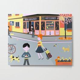 Parisian bakery shop Metal Print