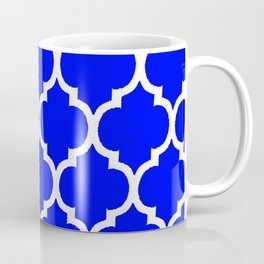 MOROCCAN COBALT BLUE AND WHITE PATTERN Coffee Mug