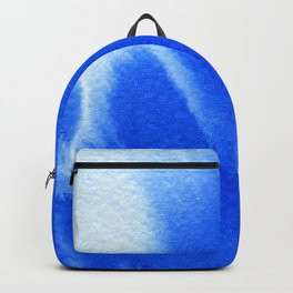 Blue ocean watercolor texture Backpack