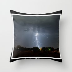 Lightning in Lovington New Mexico Throw Pillow